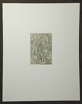 Eduardo Paolozzi RA signed 1970s abstract original drawing PROVENANCE