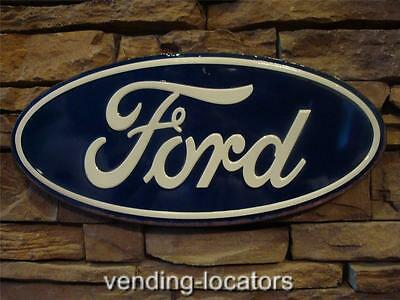 Ford Logo Embossed Metal Tin Sign Vintage Style Man Cave Decor Emblem Garage New