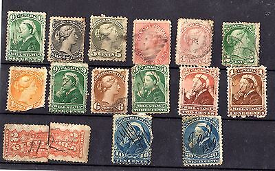 Canada QV Collection of 15 Values Used X4370