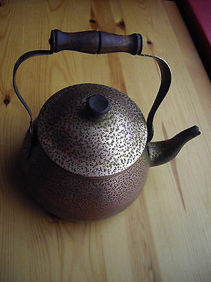 Copper or Brass Kettle Hammered Finish Free P&P