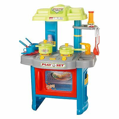 29 Piece Electronic Kitchen Cooking Children's Play Set Toy With Light & Sound