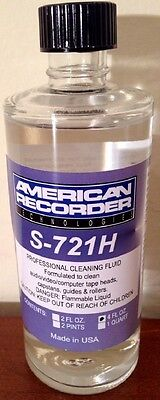American Recorder Technologies S-721H-4 Pro Tape Head Cleaner Fluid 4oz S-721H4