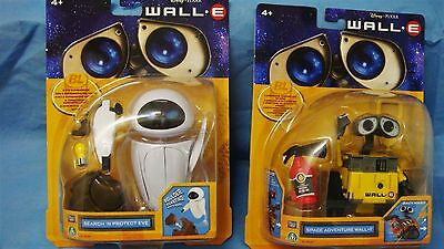 Disney Pixar Wall-E And Eve Action Figures By Thinkway Toys