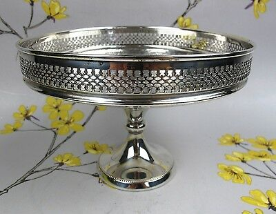 Vintage silver plated footed COMPOTE ~ BOWL ~ DISH - FRUIT TAZZA ~ CAKE STAND.
