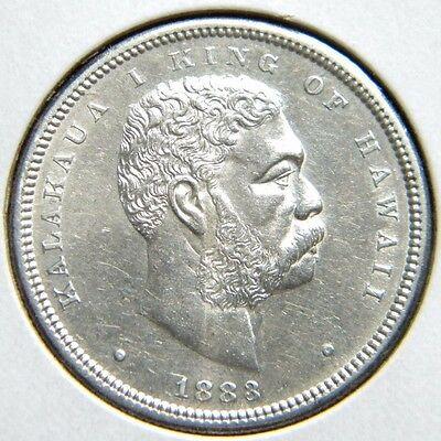 1883 Hawaii Half Dollar***choice About Uncirculated Condition          Deo