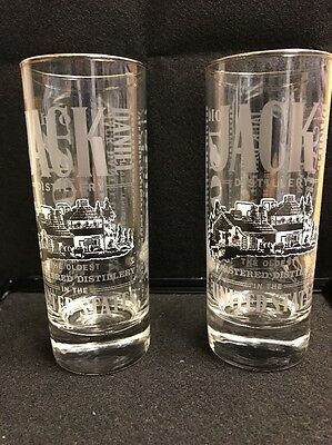 "2x Jack Daniels, Old No.7 Sour Mash highball whiskey glass ""NEW"""