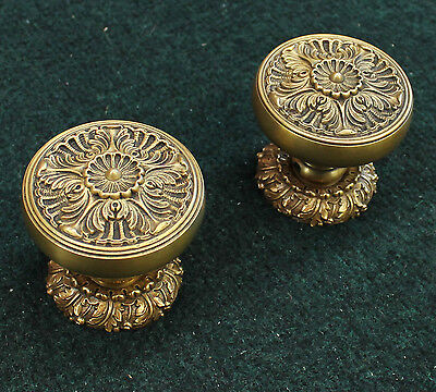 Large Custom 24k Gold Door Knobs Brand New Old Stock
