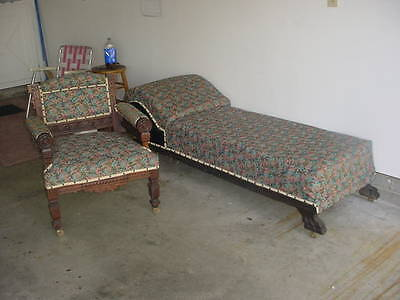 Antique Fainting Sofa And Chair,1800S,nice