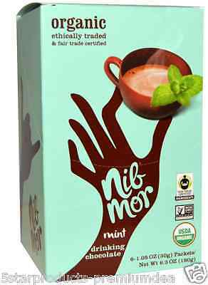 New Nibmor Organic Mint Drinking Chocolate Gluten Free Vegan Daily Sweets Foods
