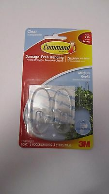 3M Command Clear Hanging Hooks x 2 for Christmas Wreath Freepost