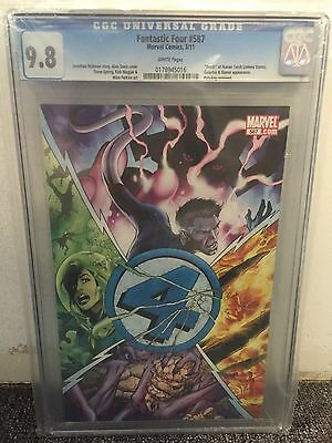 Fantastic Four #587 Cgc 9.8 Death Human Torch White Pages Marvel Comics 2011