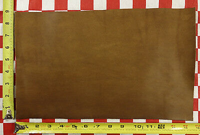 """AUTHENTIC HORWEEN  CARAMEL ESSEX 4 Oz. LEATHER HIDE 14.5""""x8.5""""  1ST QLTY"""
