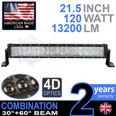 """4D 20"""" 120w Cree LED Light Bar Combo IP68 Driving Light Alloy Off Road 4WD Boat"""