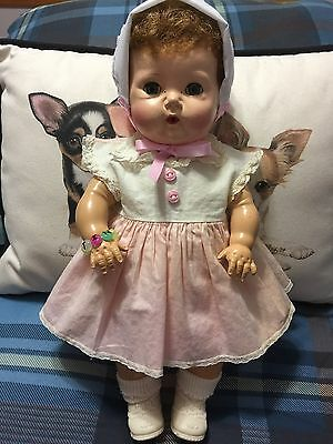 "Tiny Tears-Rubber Body-15""-Vintage Outfit/Shoes/Socks-Hands Down Feature-Reduced"