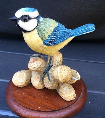 Border Fine Arts Blue Tit With Monkey Nuts