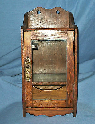 Antique Oak Smokers Cabinet