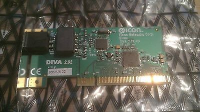 Job lot of 5 EICON DIVA PRO 2.02 ISDN modem fax PCI Adapter cards *untested*