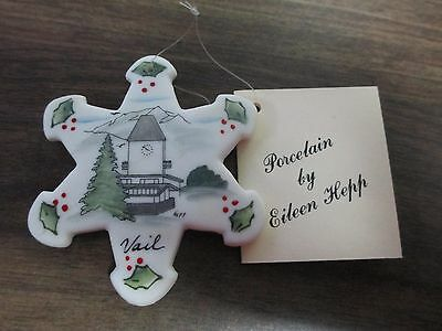 Christmas Ornament From Vail Colorado by EILEEN HEPP Allen Collection's