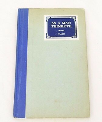Antique Collectable As a man thinketh book by James Allen Vintage Grosset