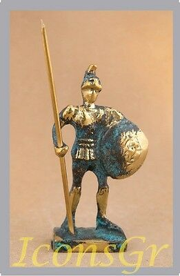 Ancient Greek Bronze Museum Statue Replica of Achilles With Spear & Shield Troy