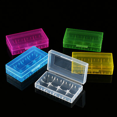 10x Hard Plastic Battery Protective Storage Box Case Holder For 2x 18650 Battery
