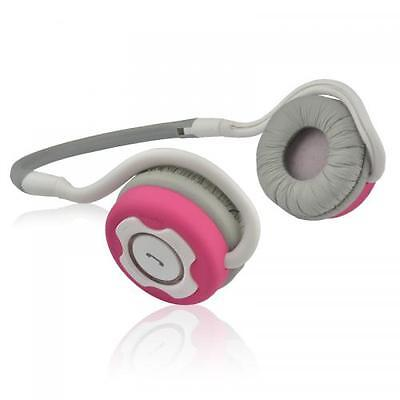 NS400 BT Neckband Headphones with Mic White/Pink