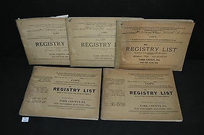 ThriftCHI ~ 1930's York County PA Voter Registry List Wm H Campbell Assessor (5)
