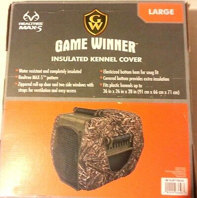 """Insulated Kennel Cover Hunting Dog Real Tree Max-5 Size LG 36"""" x 26"""" x 28"""" NIB"""