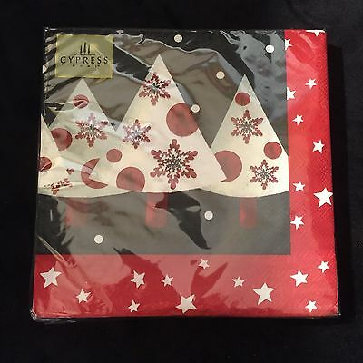 "NEW Cypress Home 20 Pack Holiday Luncheon Napkins ""Snow Much Love"""