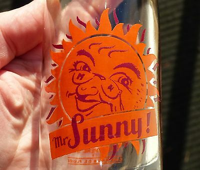 Rare 40's MrSUNNY 8oz ACL Grand'Mere, Quebec, Canada soda pop bottle FREE SHIP!