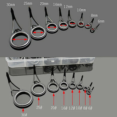75X Heavy Duty 8 Sizes Fishing Rod Guides Kit Parts Rod Building Repair  Making