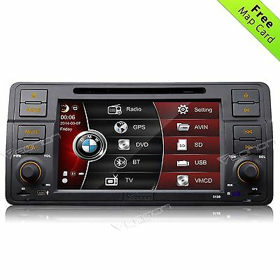 "Perfect Fit for BMW E46 1998-2005 In Dash Car DVD GPS Player Radio Stereo 7"" A"