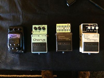Effects Pedals for Sale, phaser, chorus ,EQ, noise gate