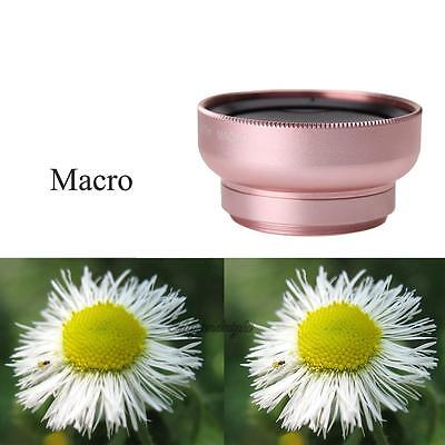 HD 49MM 0.45x Super Wide Angle Lens 12.5x Macro Lens for iPhone Android Phones