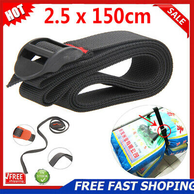 Cargo Tie Down Luggage Backpack Adjustable Lash Belt Strap Cam Buckle Travel Kit