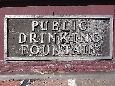 Antique Vintage Public Drinking Fountain Sign New England Origin Interior Decor