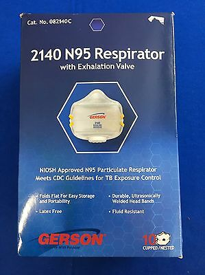 2140 N95 Respirator With Inhalation Value 10 Count Pack