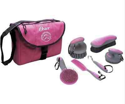 Oster Equine Care Series HORSE GROOMING KIT, 7 Piece Bag GROOMING SET, Pink