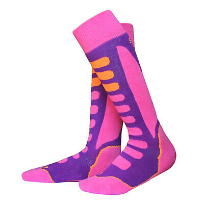 Soft Padded Thermal Performance Ski Snowboard Long Socks For Kid Adult Men Women