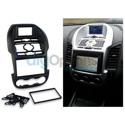 =For Ford Ranger PX MK1 2011-2015 Facia Fascia Stereo Surround 2DIN Dash Black
