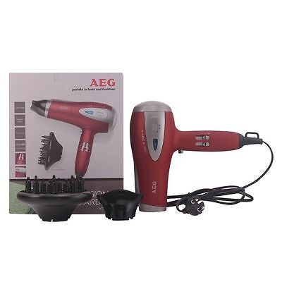 New AEG Professional  Red Salon Hairdryer 2200W Eco Save Ion Technology