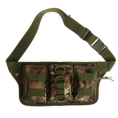 Outdoor Tactical Molle Belt Waist Bum Bag Fanny Pack Riding Hiking Purse Pouch