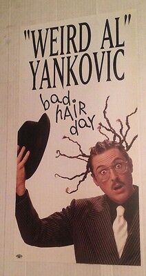 WEIRD AL YANKOVIC Bad Hair Day Coolio 1996 ORIGINAL 12x24 PROMO POSTER