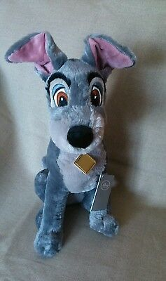 """Disneystore Genuine Lady And The Tramp 16"""" Tramp Plush Toy"""