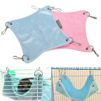Warm Plush Cloth Hamster Chinchilla Hammock Guinea Pig Rabbit Hanging Bed Cage