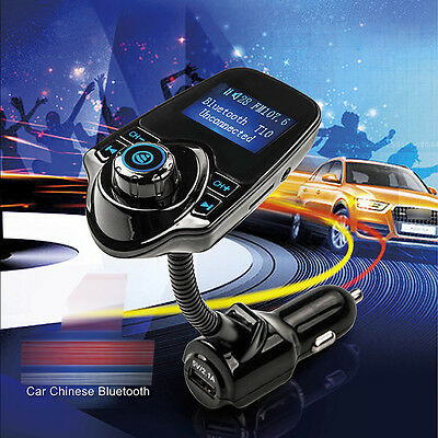 New Bluetooth Car Kit Handsfree MP3 FM Transmitter Dual USB Charger Audio Player