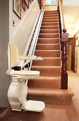 Straight stair stairlift chair lift - Brooks Acorn New Slim Line