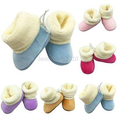 Infant Baby Boys Girls Winter Booties Slippers Warm Anti Slip Snow Boots Shoes