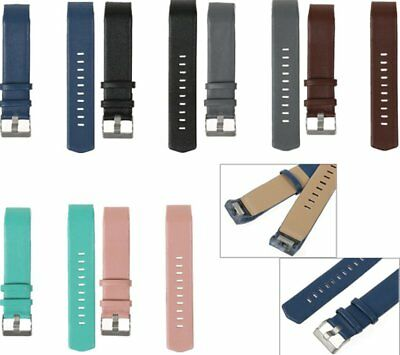 Fine Genuine Leather Replacement Watch Band Wristband Strap For Fitbit Charge 2