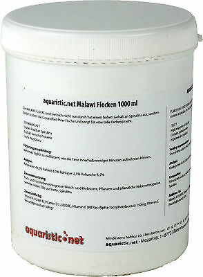 aquaristic.net Malawi Flocken 1000 ml Dose